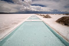 Saline in argentina Stock Photo