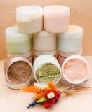 Saline body scrubs Stock Photo