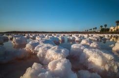 Saline evaporation ponds Stock Image