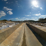 Saline exploration in Rio Maior - Portugal Stock Photos