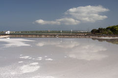 The saline of Formentera Stock Images