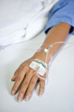Saline IV drip Royalty Free Stock Photography