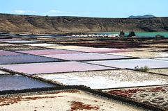 Saline from Janubio, Lanzarote, Spain Stock Photography