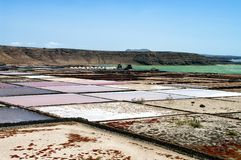 Saline from Janubio, Lanzarote, Spain Stock Photo