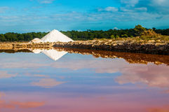Saline on Mallorca, Ses Salines Stock Photography
