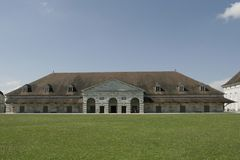 Saline Royale in Arc et Senans. Historic building made by Claude-Nicolas Ledoux architect, in Arc et Senas France. Saline Royale in Arc et Senans. Historic Stock Photo