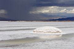 The saline of Salinas Grandes. On the argentina andes Stock Image