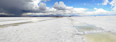 The saline of Salinas Grandes. On the argentina andes Stock Photos