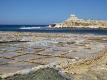 Saline: salt flats Royalty Free Stock Photo