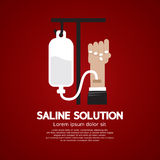 Saline Solution Medical Concept Royalty Free Stock Images