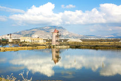 Saline of Trapani Royalty Free Stock Photography