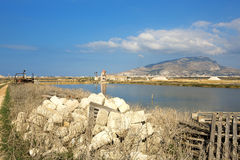 Saline of Trapani Stock Photography