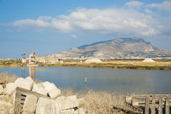 Saline of Trapani Stock Photos