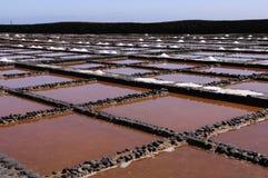 Salinen auf dem Fuerteventura Stockbild