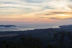 Salinen-Bucht bei Sonnenuntergang Lizenzfreie Stockfotos