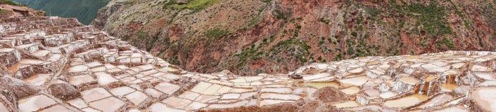 Salineras de Maras es una mina de sal cerca de Cusco, Perú imagen de archivo libre de regalías