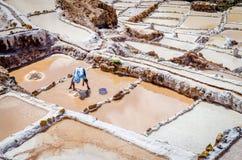 Salineras de Maras i Peru Fotografering för Bildbyråer
