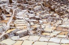 Salineras de Maras no Peru fotografia de stock
