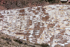 ` Salineras lub Salinas De Maras ` w Andes górach w Cusco, Peru Obraz Stock