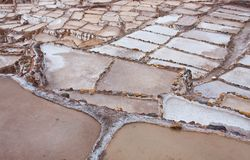 Salineras - Salt mines - Maras  near Urubamba - Peru Stock Photos