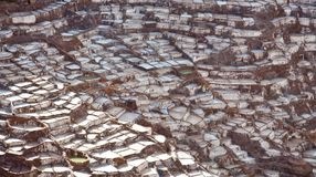 Salineras - Salzbergwerke - Maras nahe Urubamba - Peru Stockbild