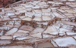 Salineras - Salzbergwerke - Maras nahe Urubamba - Peru Stockfotos