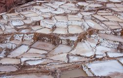Salineras - Salzbergwerke - Maras - Peru lizenzfreies stockfoto