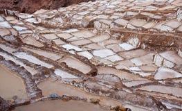 Salineras - Salzbergwerke - Maras - Peru stockbilder