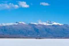 Salines Grandes, les Andes, Argentine photographie stock