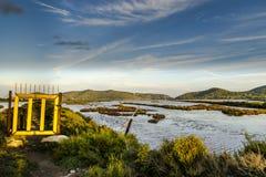 Salines Ibiza de Ses Images libres de droits