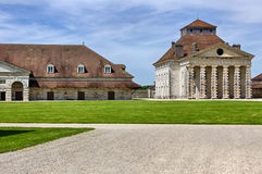 Salines Royales. The Saline Royale (Royal Saltworks) is a historical building at Arc-et-Senans in the department of Doubs, eastern France.  It was created by the Royalty Free Stock Image