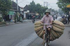 Saling bambuhantverk Arkivfoto