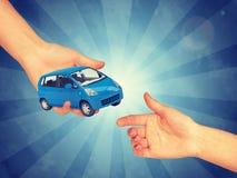 Saling blue car Stock Photography
