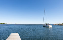 Saling boat Royalty Free Stock Images
