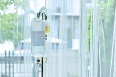 Salino per i pazienti in ospedali pubblici e privati, sostanze immagine stock