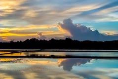 Salino sul tramonto Immagini Stock