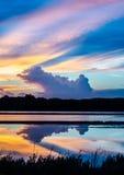 Salino sul tramonto Immagine Stock