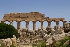 Salinunte - Sicília Foto de Stock