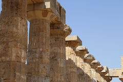 Salinunte & x28; Sicily& x29; fotografia stock libera da diritti