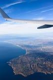 Salir del aeropuerto de Los Ángeles Imagen de archivo libre de regalías