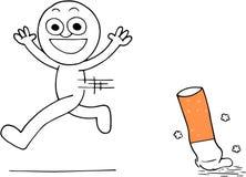 Salir fumar Imagen de archivo libre de regalías