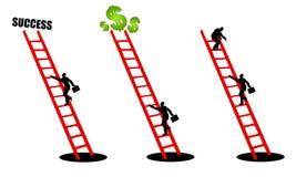 Salire la scala di successo 2 Fotografia Stock