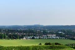 Salisbúria, Inglaterra, de cima de imagem de stock