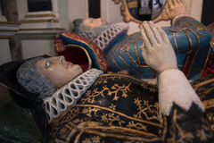 SALISBÚRIA, WILTSHIRE/UK - 21 DE MARÇO: Túmulo pintado de Sir Richard imagens de stock royalty free