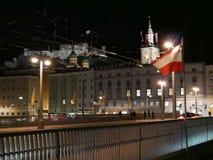 Salisburgo alla notte Fotografia Stock