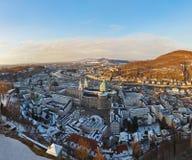 Salisburgo Austria al tramonto Immagine Stock