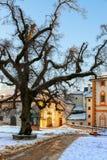 Salisburgo Austria al tramonto Fotografie Stock Libere da Diritti