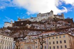 Salisburgo Austria al tramonto Immagini Stock Libere da Diritti