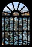 Salisburgo Austria in finestra Immagini Stock