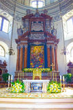 Salisburgo, Austria - 1° maggio 2017: Interno della cattedrale di Salisburgo - dettagli Immagini Stock